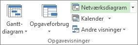 Billede af knappen Netværksdiagram under fanen Visning.