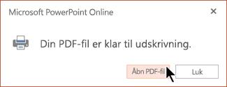 Din PDF-fil er klar