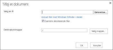 Overføre med Windows Stifinder