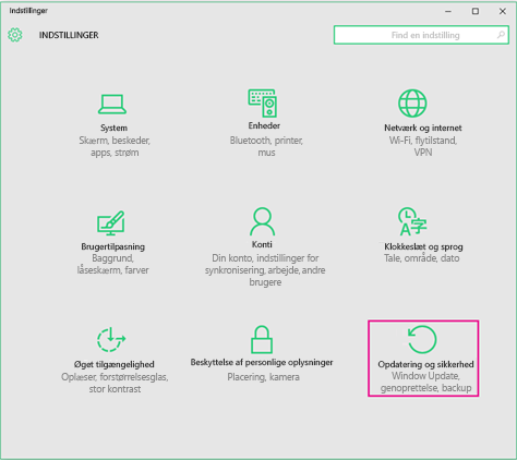 Indstillinger for Windows-opdateringer i Windows 10