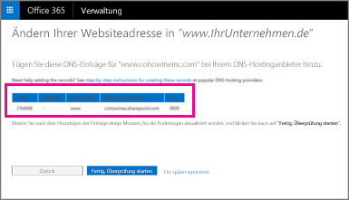 Fügen Sie diese DNS-Einträge hinzu, um Ihre Websiteadresse zu ändern