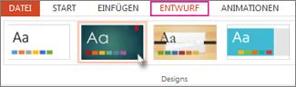 Wählen Sie ein Design aus.