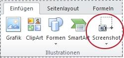 Schaltfläche 'Screenshot'