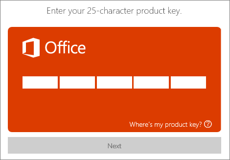 Product Key eingeben