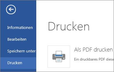 """Befehl """"Drucken"""" in Word Web App"""