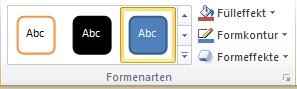 Gruppe 'Formenarten' auf der Registerkarte 'Format'
