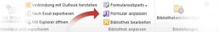 Formulare in InfoPath anpassen