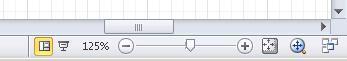 Navigieren in einem Diagramm mithilfe der Tools in der Statusleiste