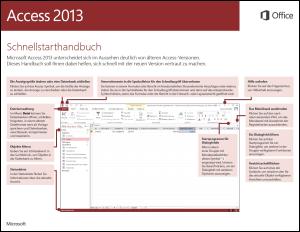 Access 2013 – Schnellstarthandbuch