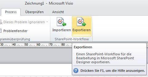 Schaltfläche 'Exportieren'
