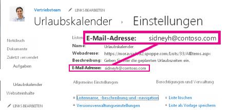 Dateien durch Senden einer E-Mail hinzufügen