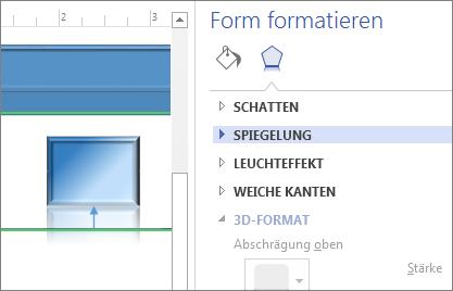 Formatieren eines Shapes