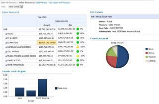Beispiel für ein in SharePoint Server 2010 gehostetes Dashboard
