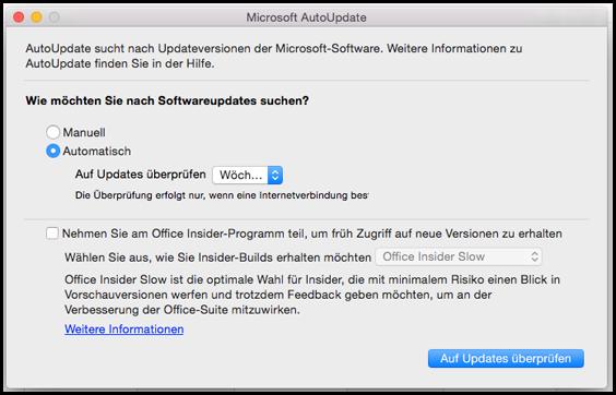 Office für Mac AutoUpdate