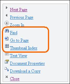 Menü in Mobile Viewer für Word