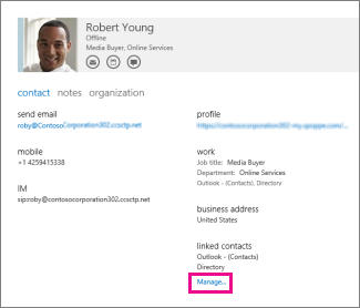 Profile für Kontakte verwalten