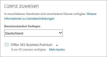 """Screenshot des Menüs """"Lizenz zuweisen"""", kein Abonnement ausgewählt"""