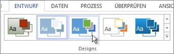 Designkatalog in Visio