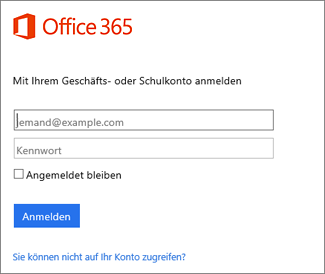 "Anmeldeseite ""portal.office.com"""