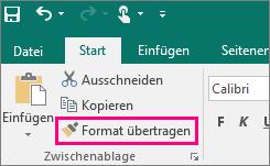"""Abbildung der Schaltfläche """"Format übertragen"""" in Publisher"""