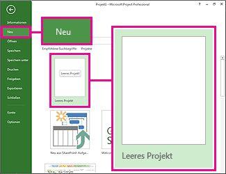 Schaltflächensymbol 'Neues leeres Projekt erstellen'