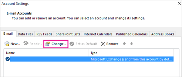 shows change attributes dialog in Outlook