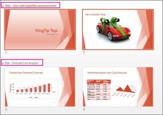 View all slides in a presentation