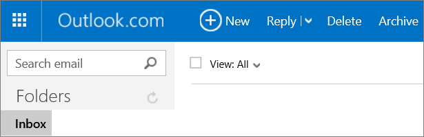 A picture of the Outlook.com ribbon