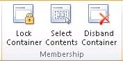 Membership group for containers
