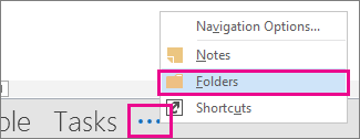 to view the folder in the navigation bar