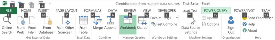 Data Explorer Ribbon KeyTips 2