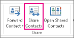Shared contacts button