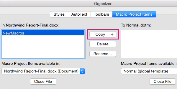 how to delete a word document on a mac