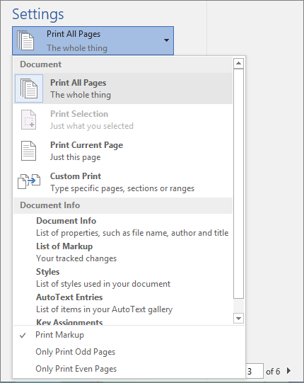 how to use markup in word 2010
