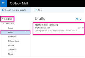 using email in outlook on the web and outlook office