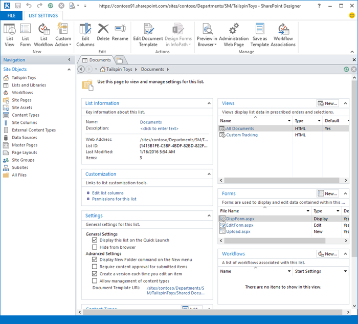 Image of SharePoint Designer 2013  front page.