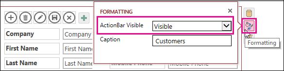 ActionBar Visible property on Formatting menu