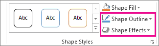 Shape Styles group on the Drawing Tools Format tab