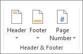 Header and footer group