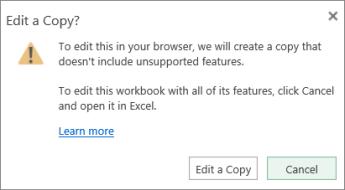 Edit a Copy message
