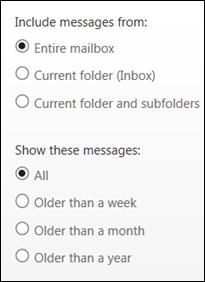 Outlook WebApp Search Scope