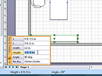 Align and resize shapes using the Size and Position Window