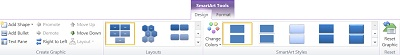 SmartArt Tools Design tab