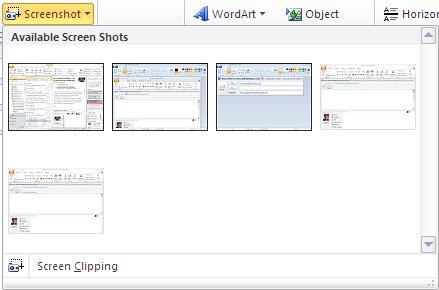 Insert Screenshot command