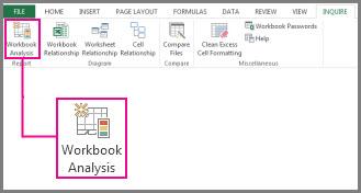 Workbook Analysis command