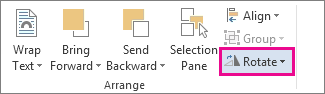 Rotate command on the Drawing Tools Format tab