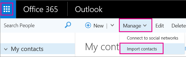 A picture of what the ribbon looks like in Office 365 Outlook on the web.