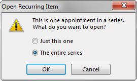 Open recurring item