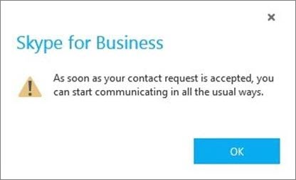 Notification that Skype user has to accept request