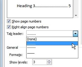 how to add a table of contents in word 2016